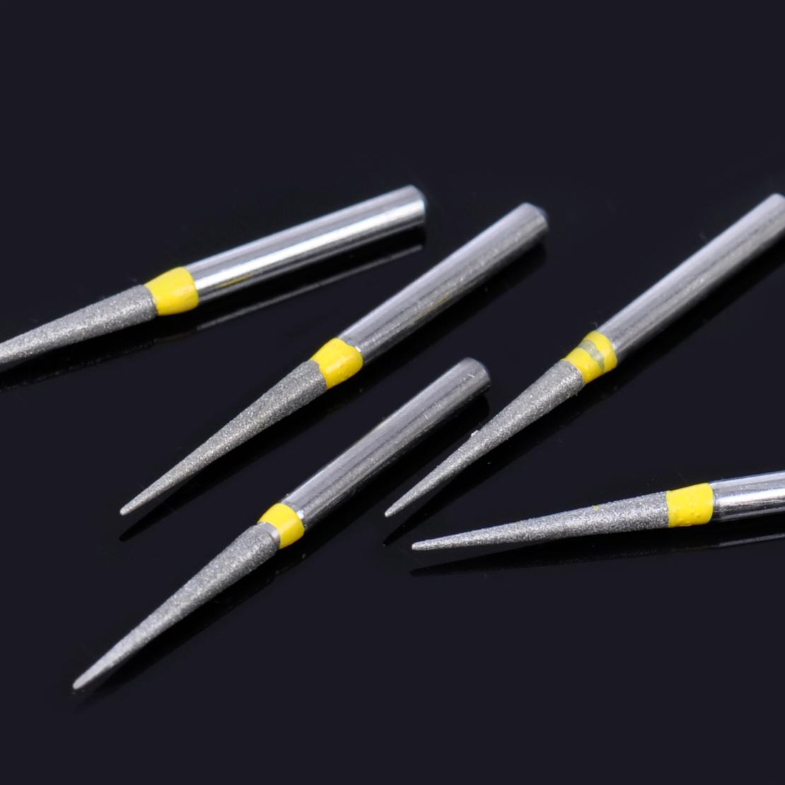 Dental Diamond: 100pcs/set Stainless Dental Diamond Burs For High Speed