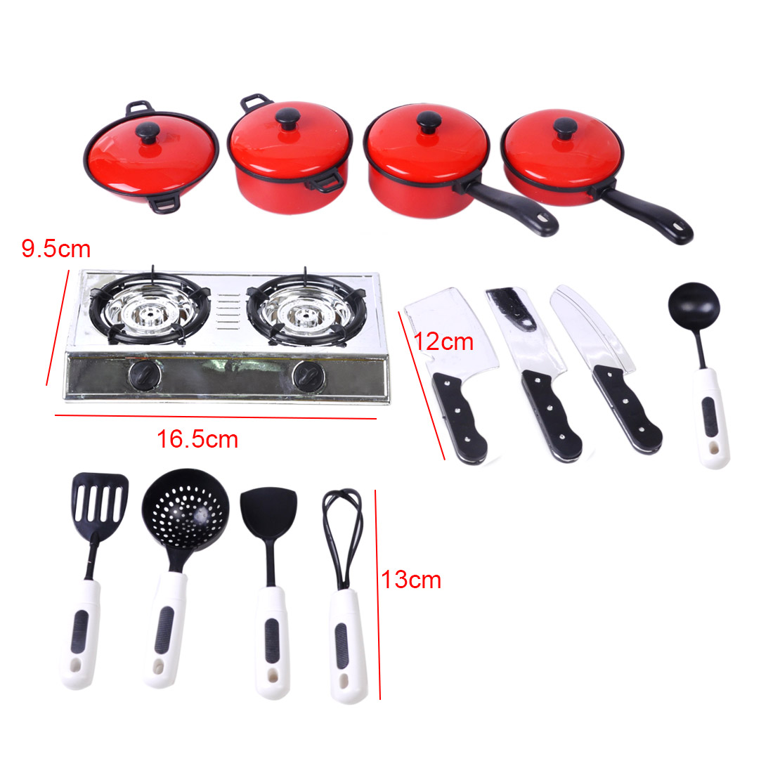 13pcs Kids Play Toy Kitchen Utensils Pots Pans Cooking Food Dishes Cookware Toy Ebay