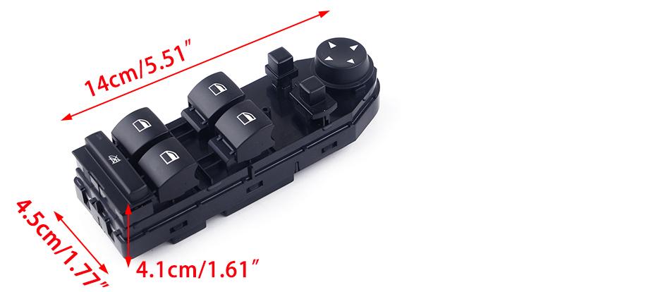 KUANGQIANWEI Elektrischer fensterheber 61313414354 E-Fensterheber-Schalter gepasst for BMW E83 X3 2004 2005 2006 2007 2008 2009 2010 Autozubeh/ör