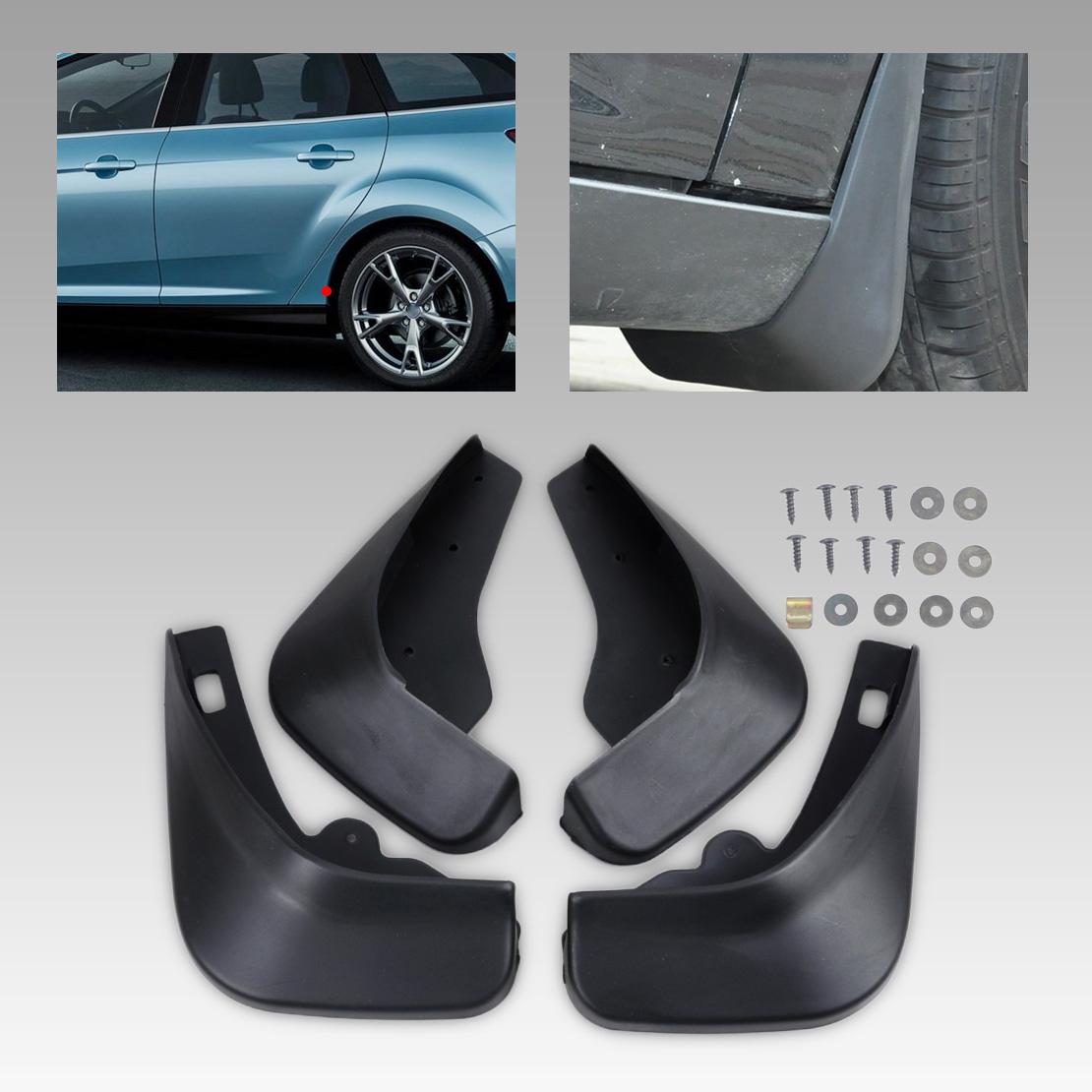 4 Mud Flaps Splash Guard Fender Car Mudguard for Ford Fiesta Hatch 13-16