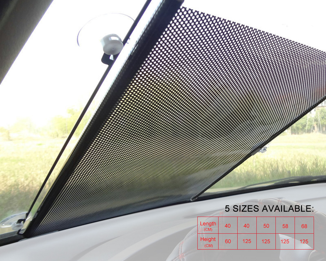 Details about Car Rollable Restractable Handy Block Cool Shade Window Sun  shade Visor 58 125cm b23ea9ac3f5