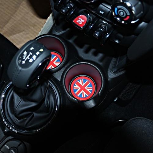 3* Rot UK Flagge Auto Anti-rutsch Tassen Becher Matte Für Mini R55 R56 R57 R58