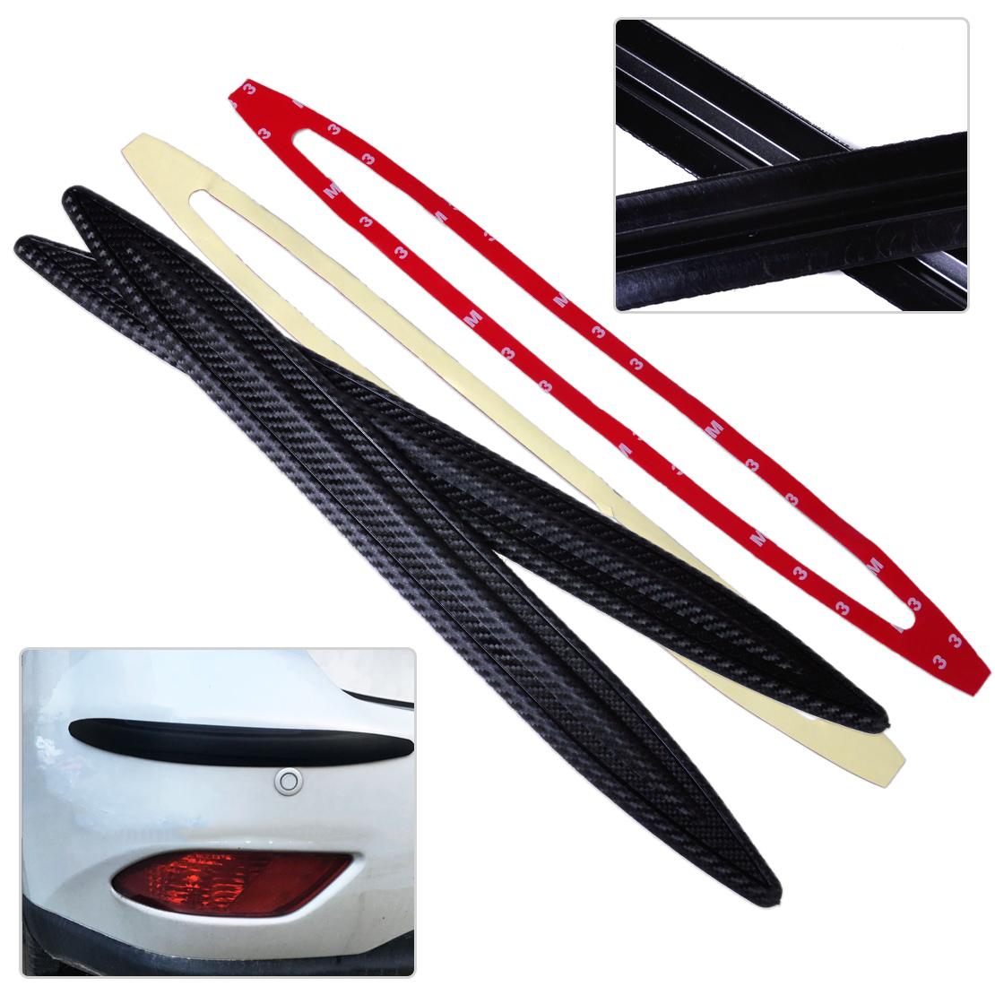 2PCS Universal Car Carbon Fiber Anti-rub Protector Bars Body Corner Bumper Guard