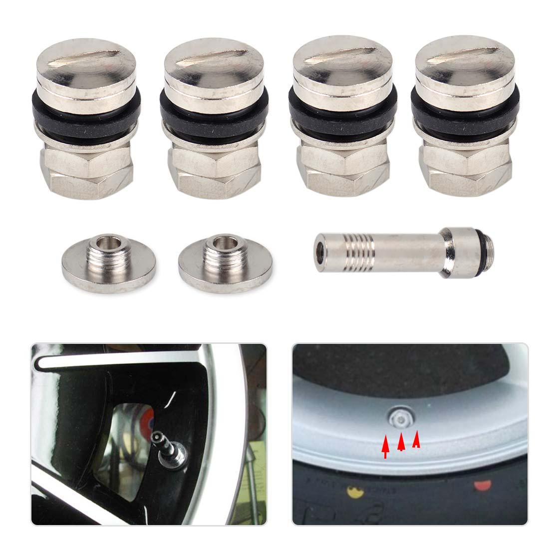 Universal 4xTubeless Plug in Wheel Rim Tire Valve Stem Rubber for TR414 Car