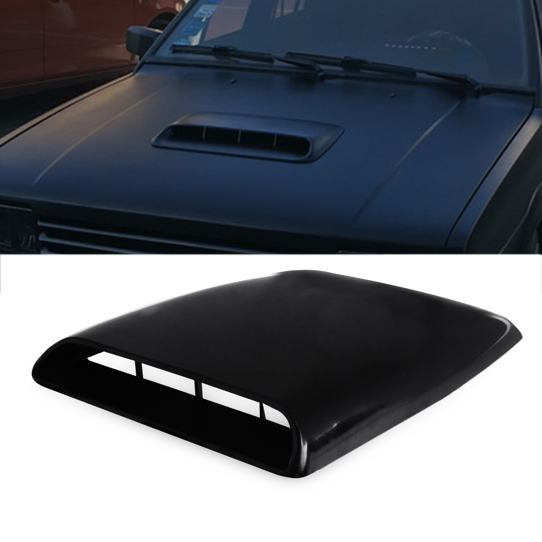 Air Flows Intake Scoop Universal Car Decorative Air Flows Intake Scoop Bonnet Vent Sticker Cover Hood black Bonnet Vent Cover
