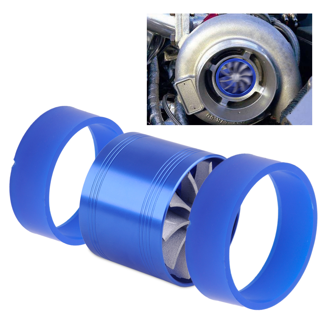 """For BENZ Supercharger COLD AIR INTAKE TURBO DUAL Gas Fuel Saver Fan BK 2.5-3.0/"""""""