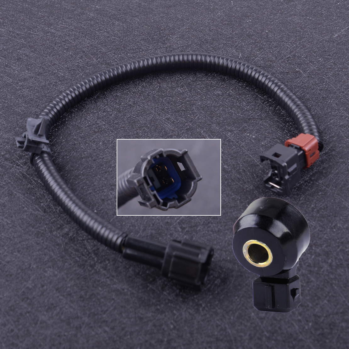 ECCPP Knock Detonation Sensor with Harness Compatible with 1995-2004 Nissan Pickup 1995-1998 Nissan 200SX 1991-1998 Nissan 240SX 1990-1996 Nissan 300ZX 1993-2001 Nissan Altima 22060-30P00