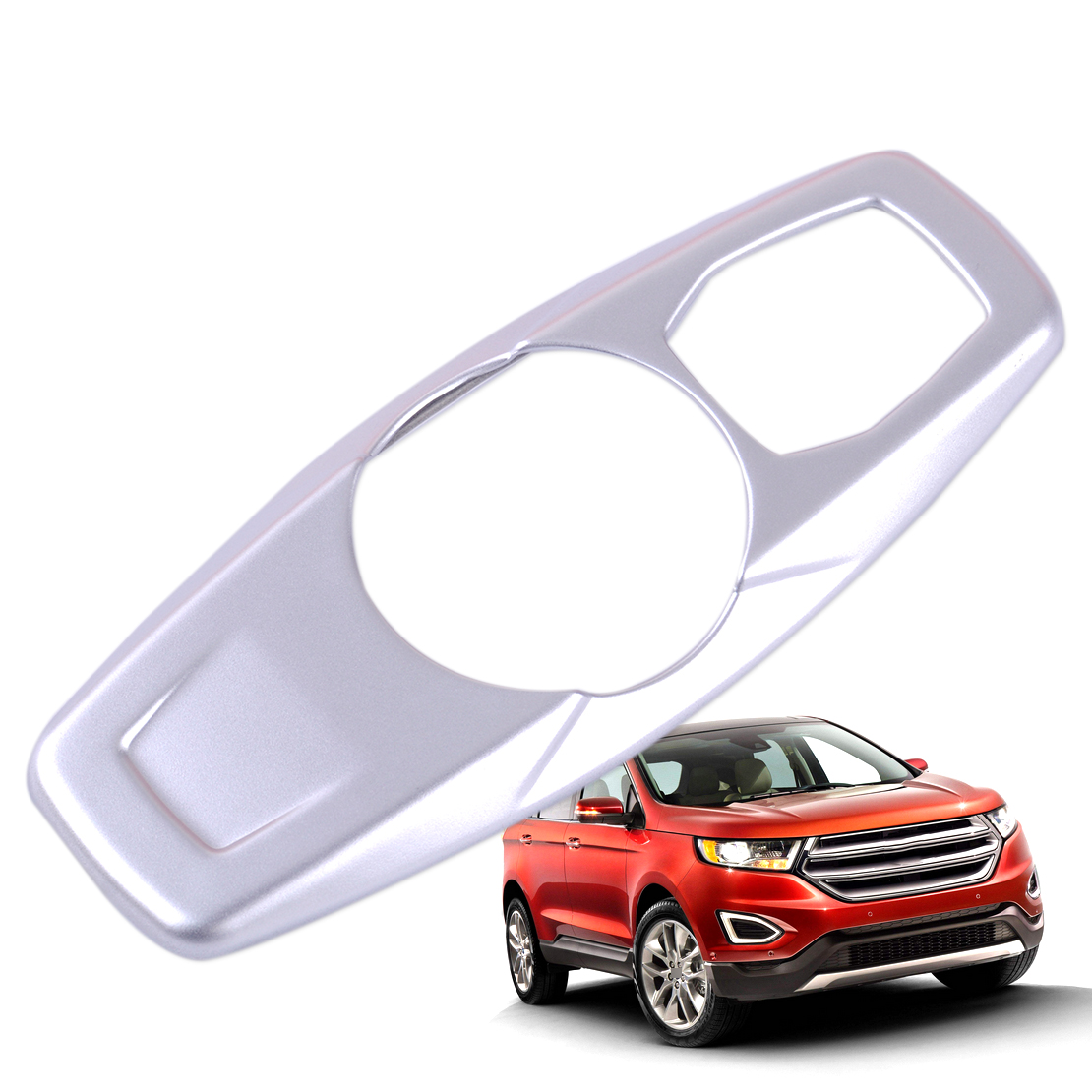 2*ABS Chrome Rear Tail Light Lamp Cover Decorative Trim For Ford Edge 2011-2013