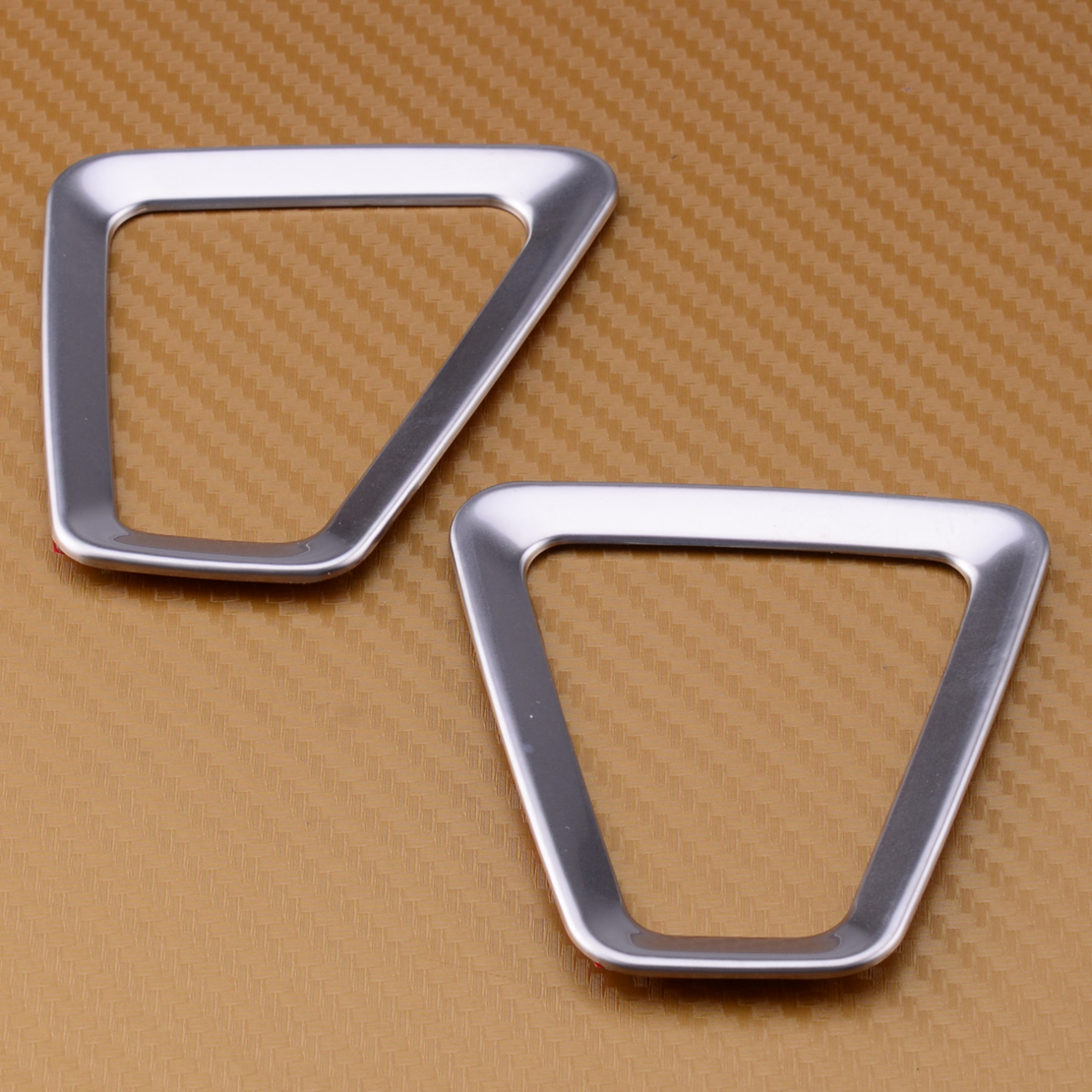 High Quality 2pcs Stainless Steel For Volvo S60 S60l V60: Silver Interior Upper Air Vent Outlet Cover Trim Fit For