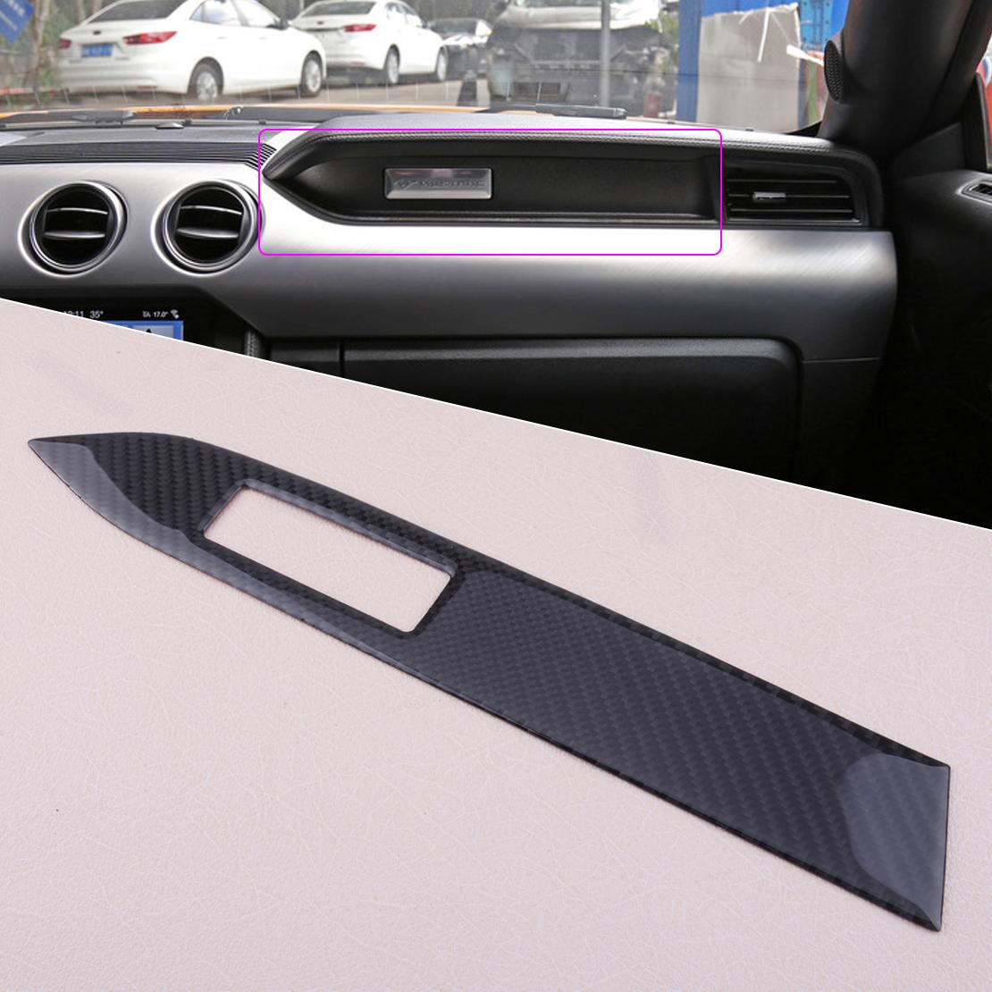 Carbon Fiber Interior Headlight Swich Center Control Cover Trim For Ford Mustang