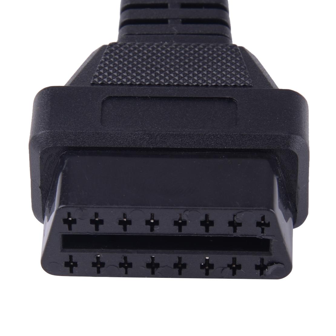 Obd1 9pin obd2 16pin Stecker Adapter Diagnose Kabel passend für Subaru schwarz