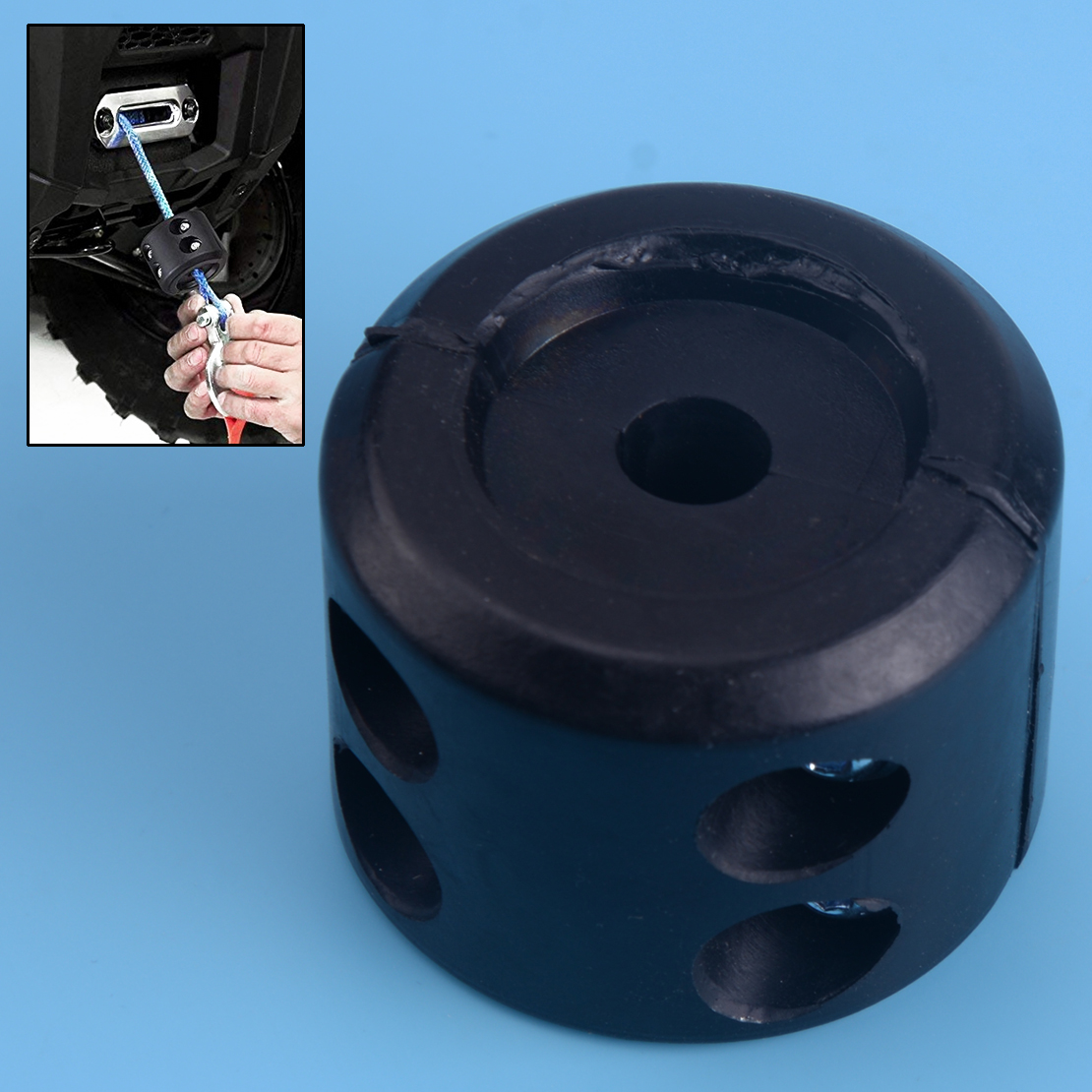 Hot Sale Black ATV Winch Cable Hook Stop Stopper Rubber Cushion