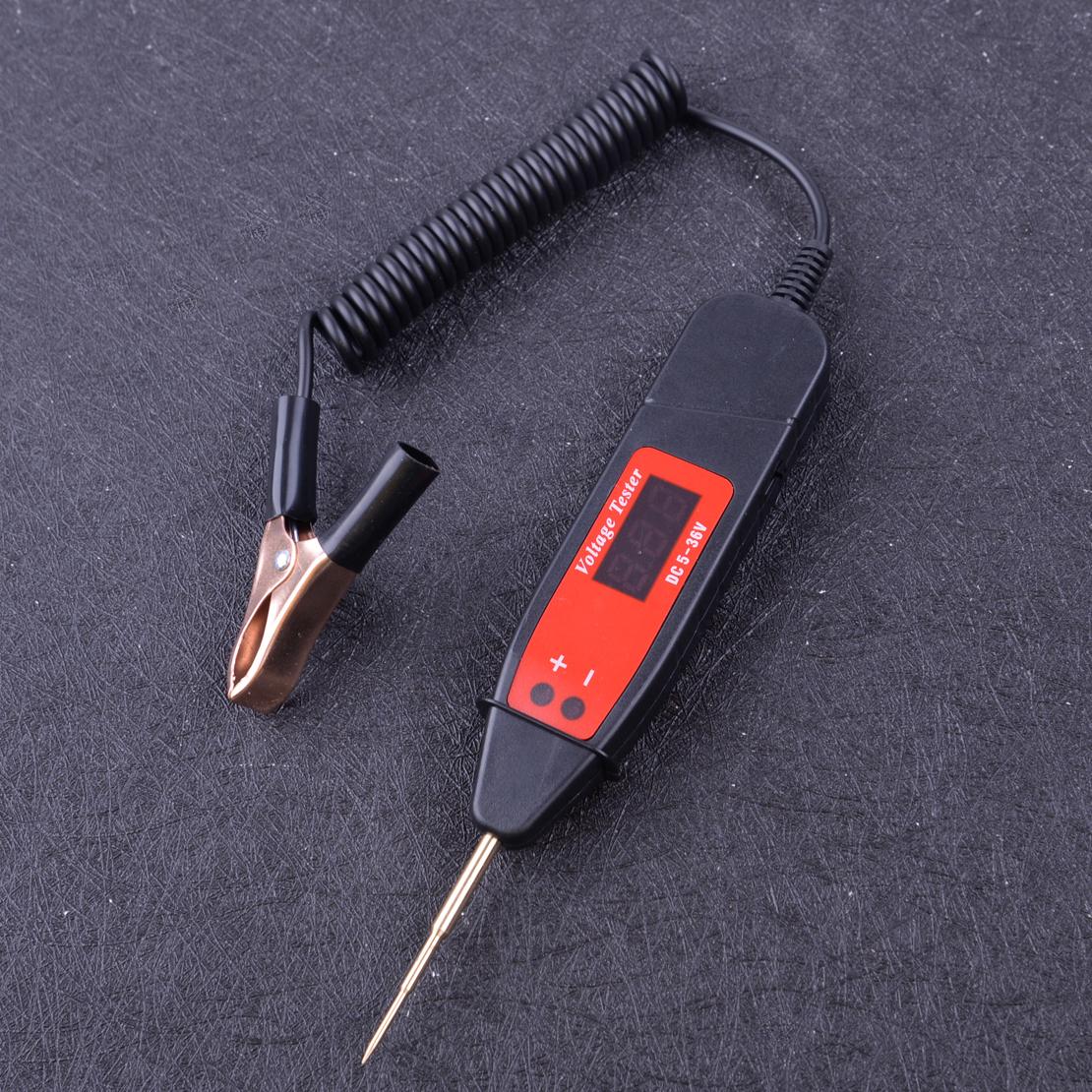 5-36V Digital Car Fuse Electric Circuit Probe Tester Voltmeter Voltage Indicator