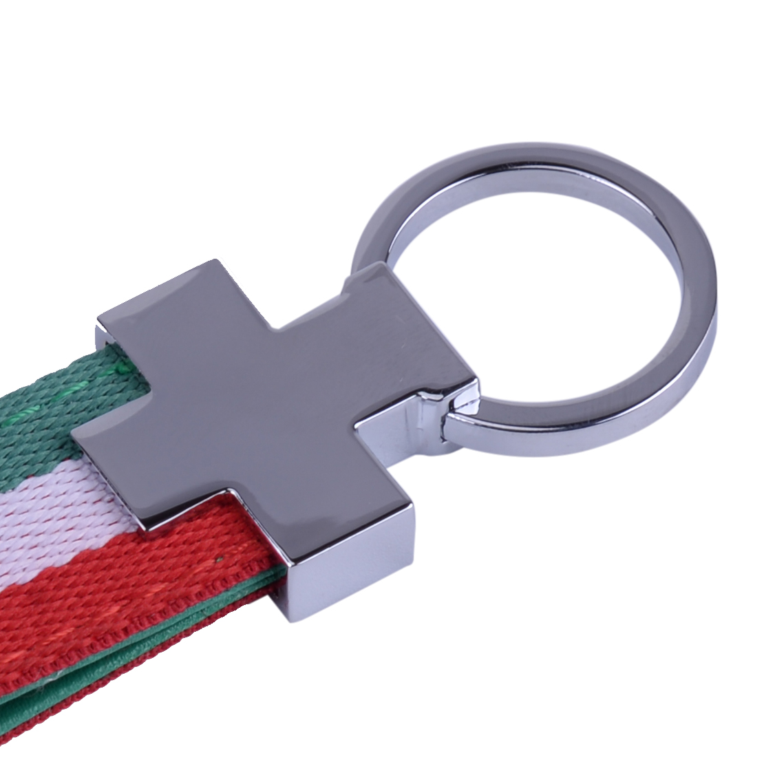 Leather Keyring Engraved Vatican City Vatican Flag