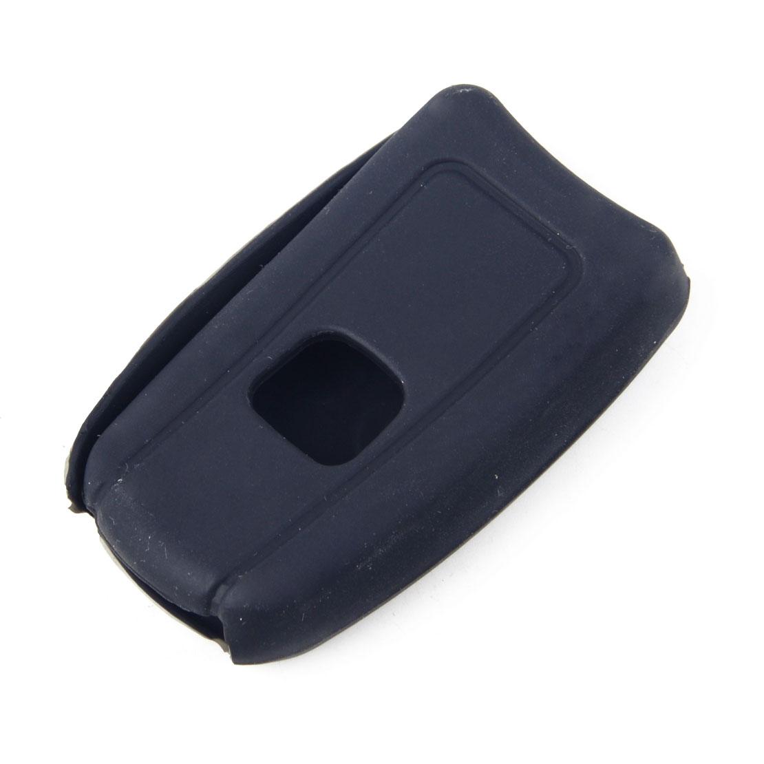 Black Silicone Keyless Remote Flip 3BTN Key Fob Case Fits