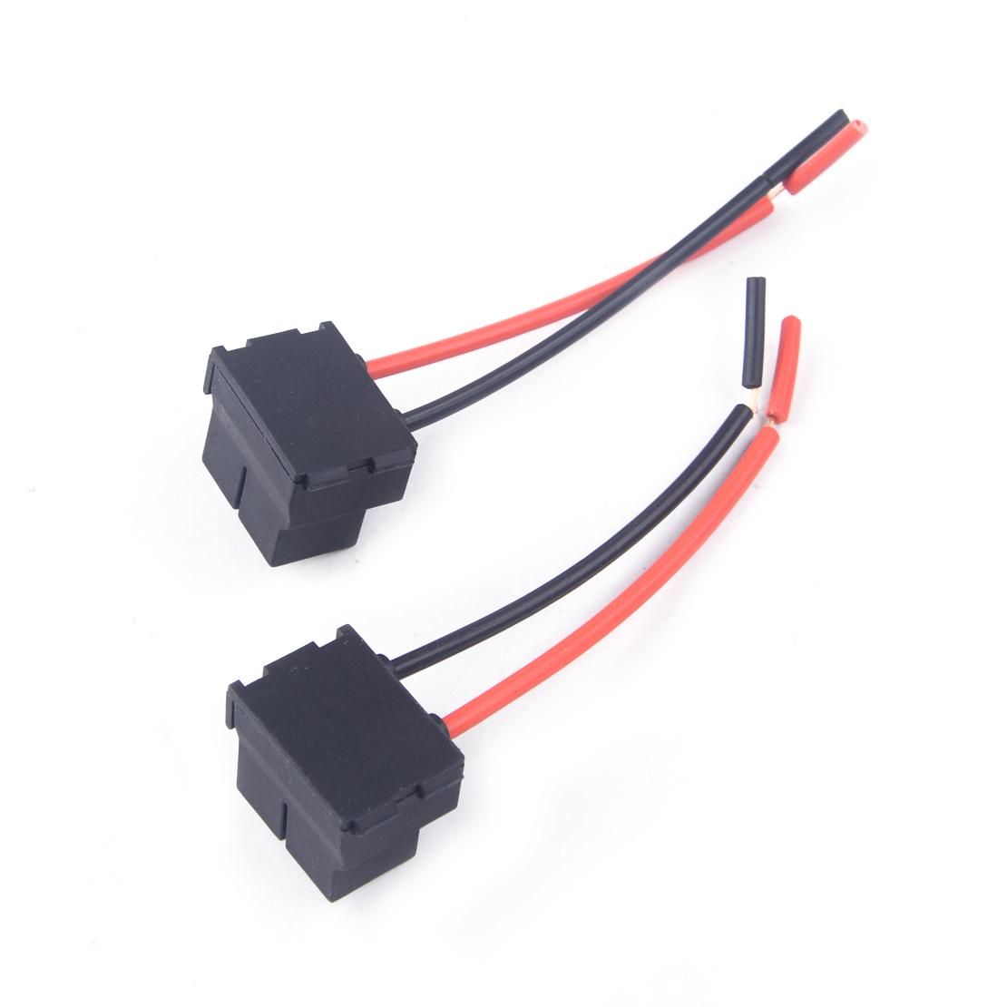2x H7 Headlight Bulb Ceramic Socket Plug Connector Wiring Harness Male to Female