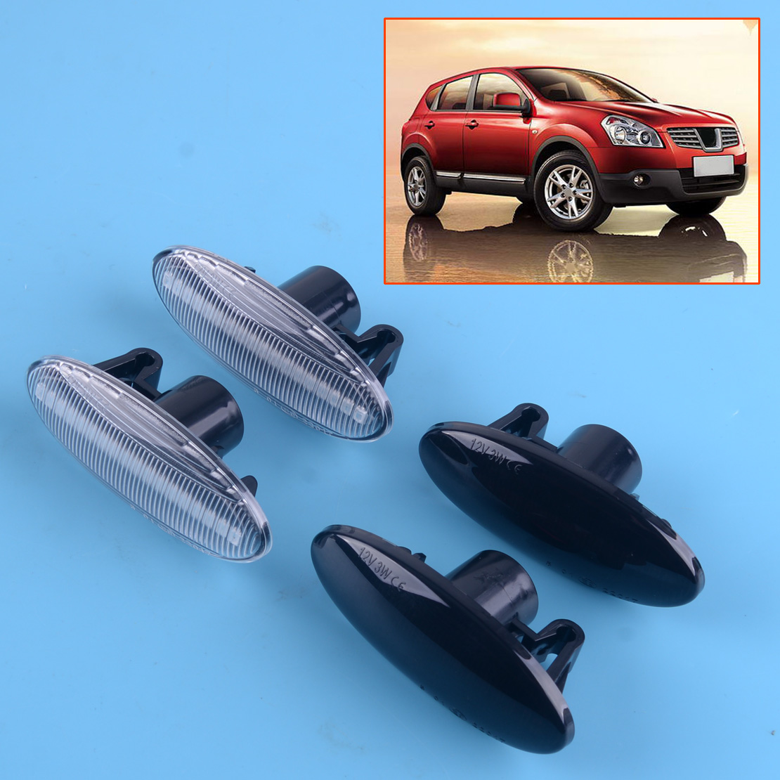 LED Dynamic Sequential Turn Signal Lamp Fit For Nissan Leaf Juke Cube Qashqai