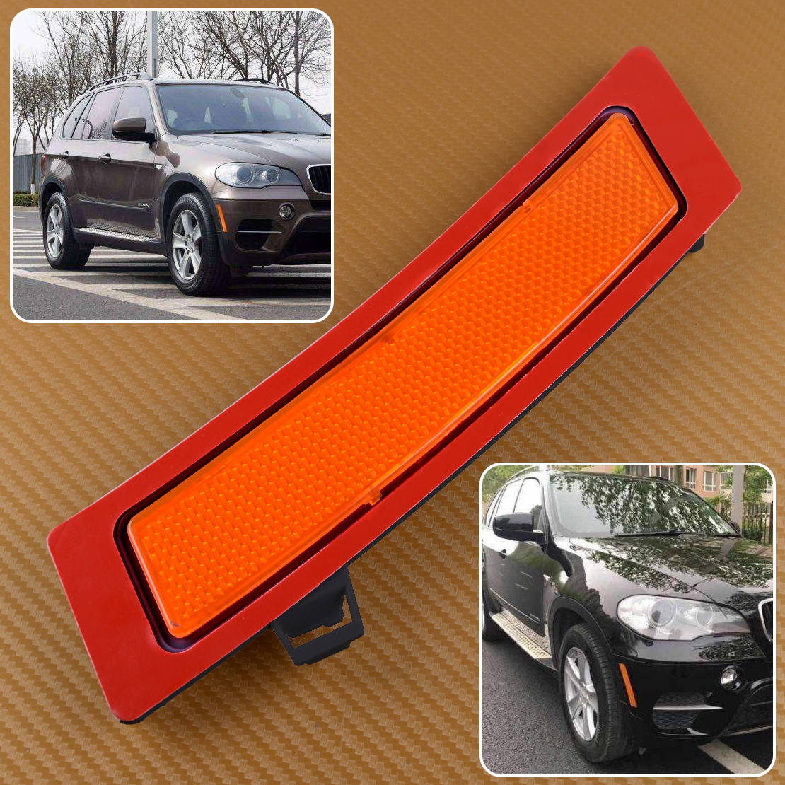 Left Side Front Bumper Cover Reflector For 2011-2013 BMW X5 E70