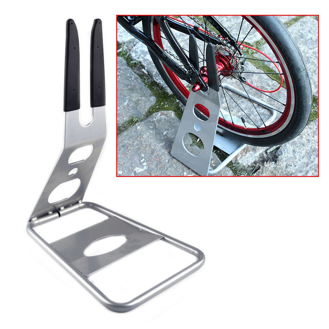 Floor Stand Holder Triangle Rear Hub Mount Bike//Bicycle Storage Rack Accessories