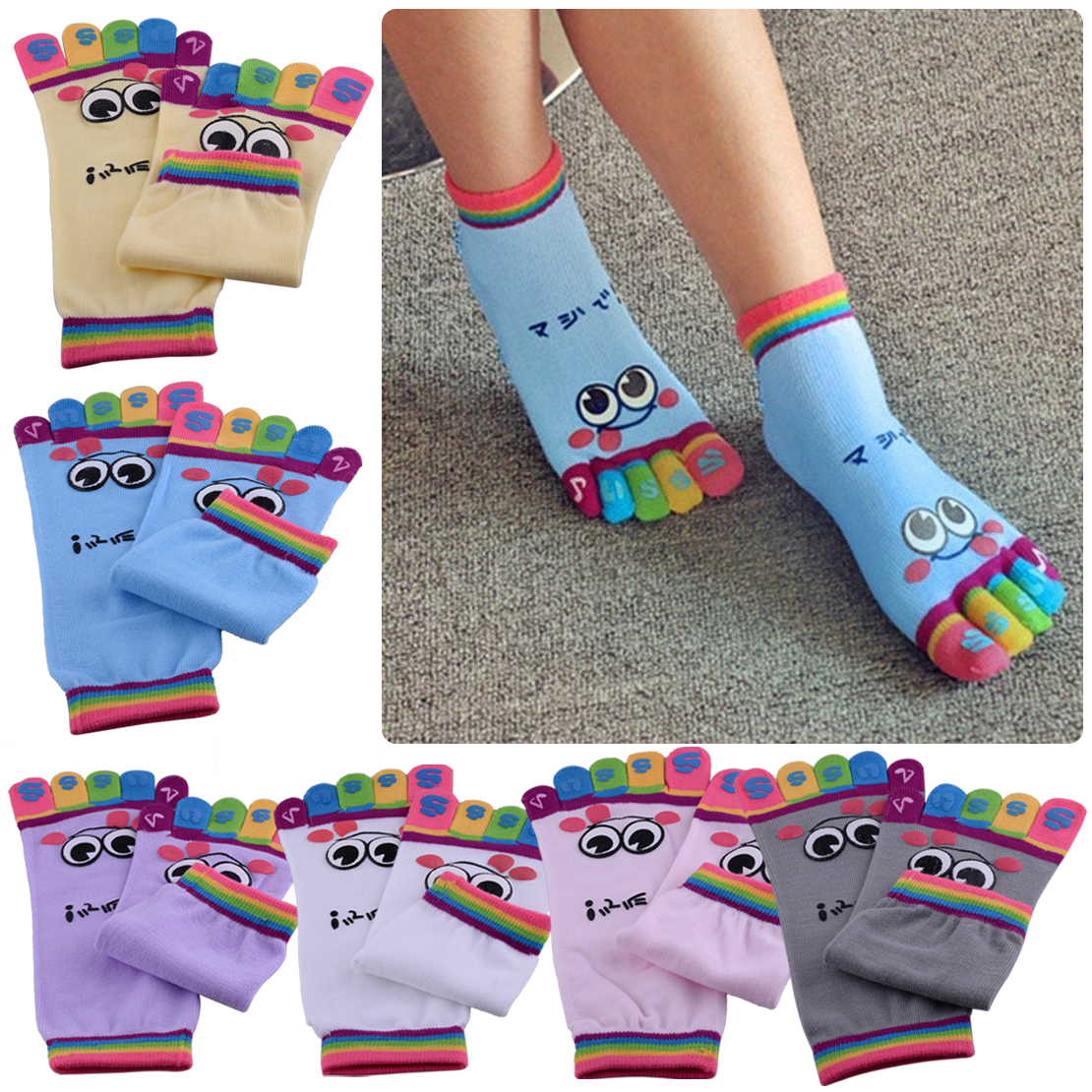 6 pairs Strechy Loafer Boat Low Cut Nonslip Socks One Size UK 4-5.5