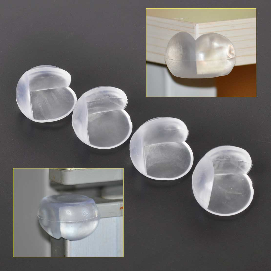 SOFT PVC BABY SAFETY CORNER CUSHIONS DESK TABLE COVERS PROTECTORS BALLS PADS 3CM