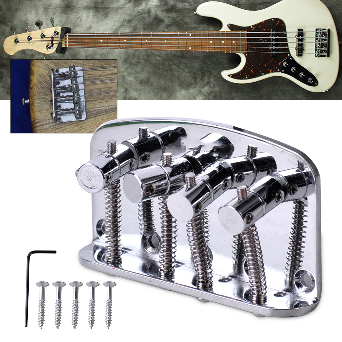 High End Bass Bridge Brücke Steg Saitenhalter 5-string
