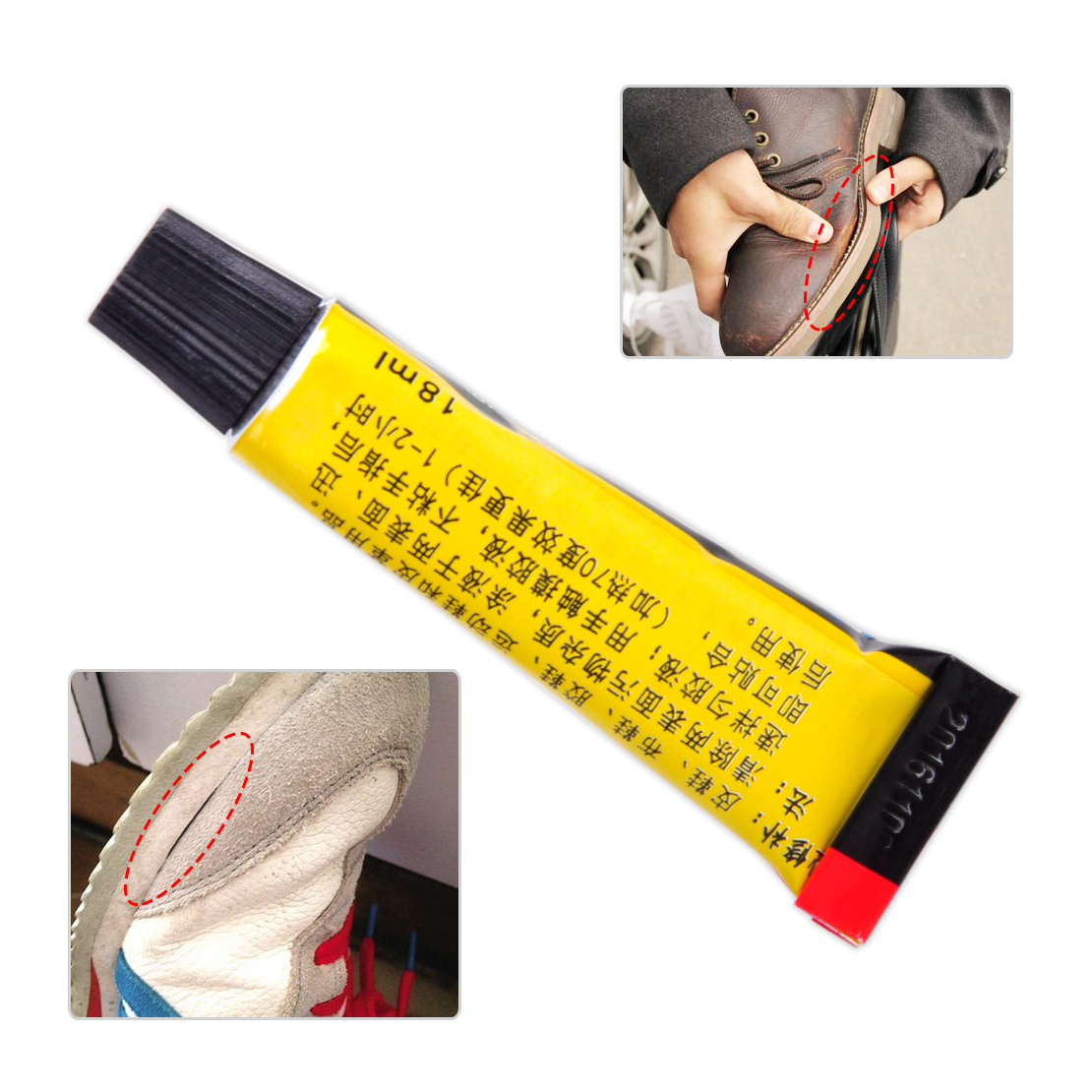 18ml adhesive repair glue for shoe leather rubber