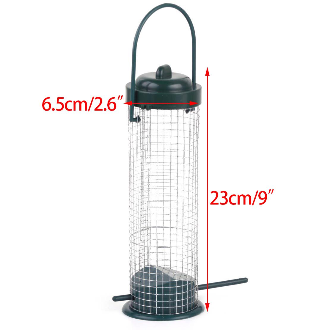 Iron Wire Hanging Seed Feeder Hanger Wild Bird Squirrel Garden Peanut Feeding
