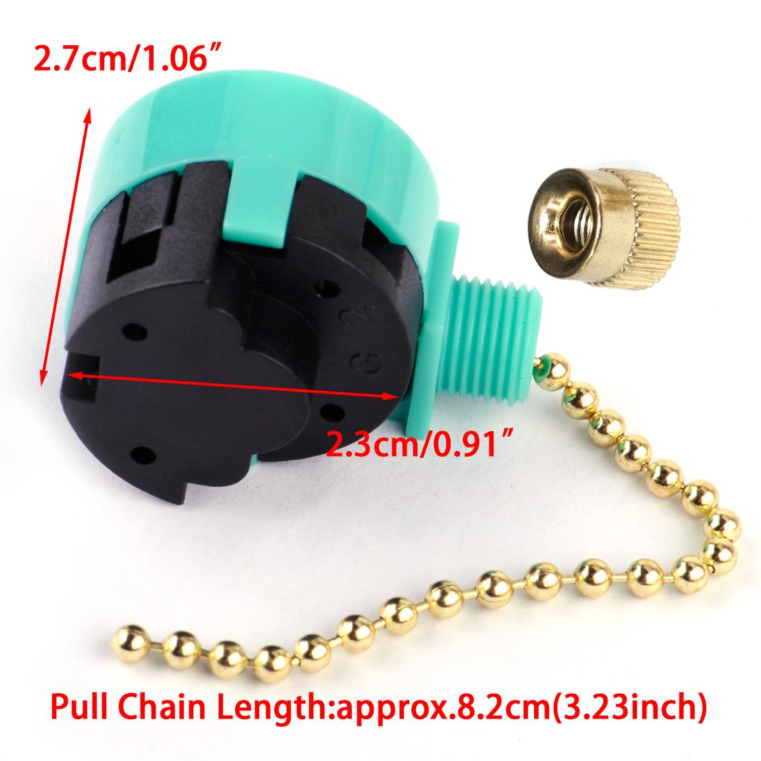 Interrupteur chaîne 3 vitesse pour Zing Ear ZE-208S6 Pull Chain Control Switch