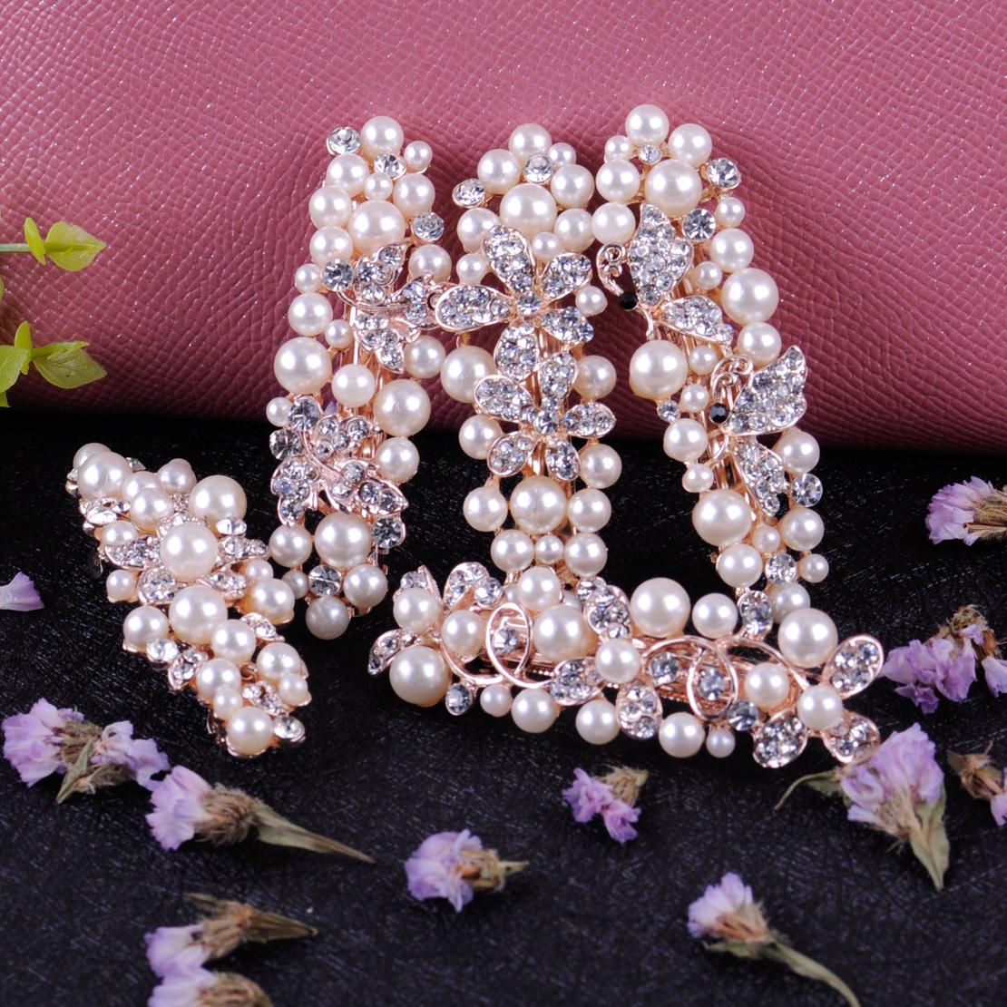 Damen Kristall Strass Haarnadel Blume Haarspange Haarklammer Haarschmuck Gifts