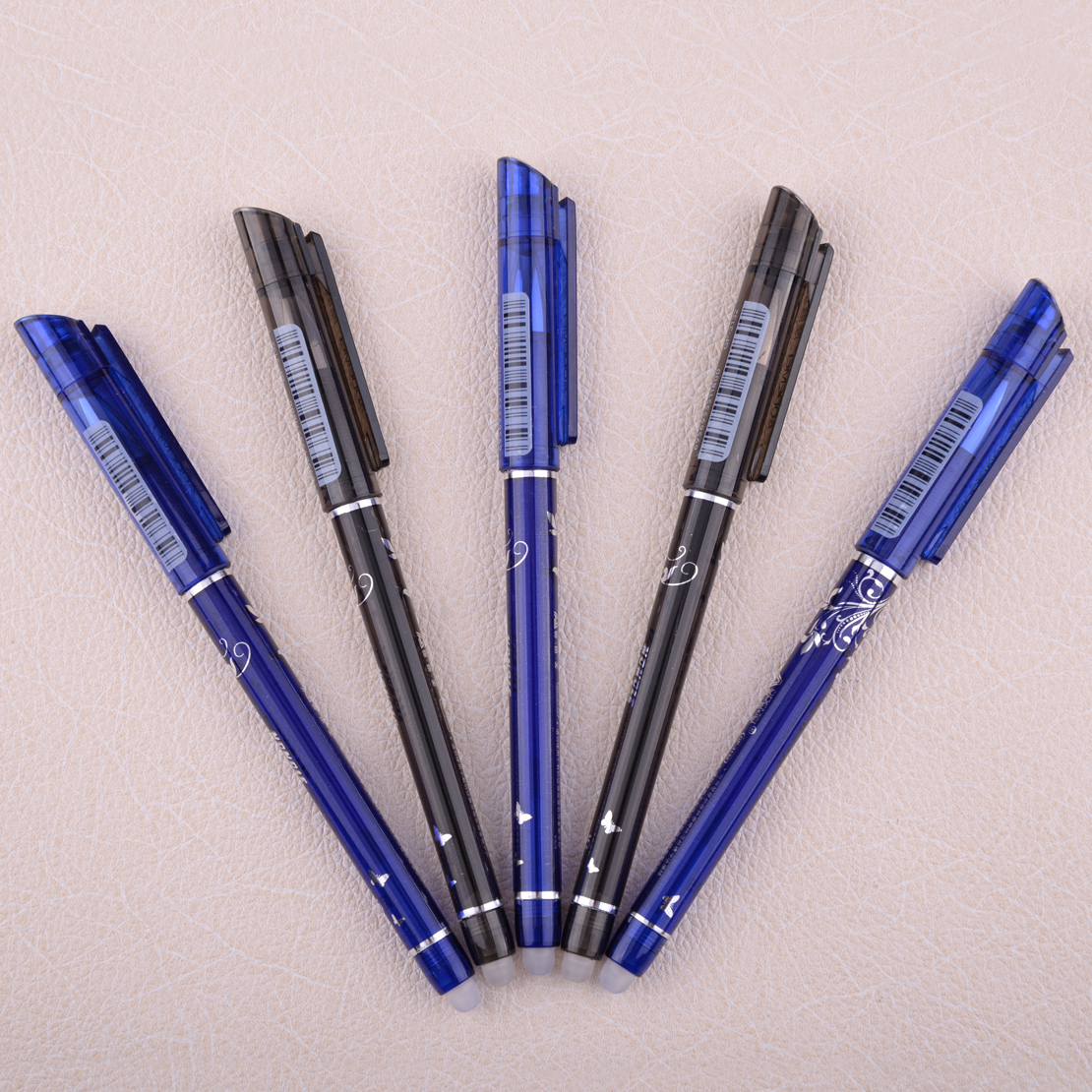 10x Kugelschreiber aus Papier Farbe schwarz