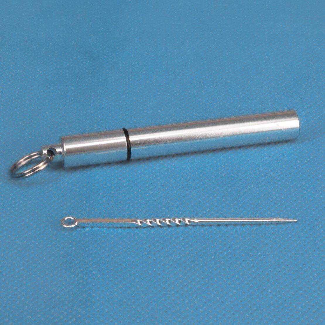 Wasserdichte Titanlegierung Taschen Zahnstocher Halter Zahnstocher Box