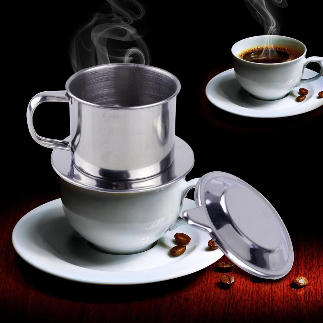 Vietnam Edelstahl Kaffeefilter Vietnamesisch Kaffeetasse