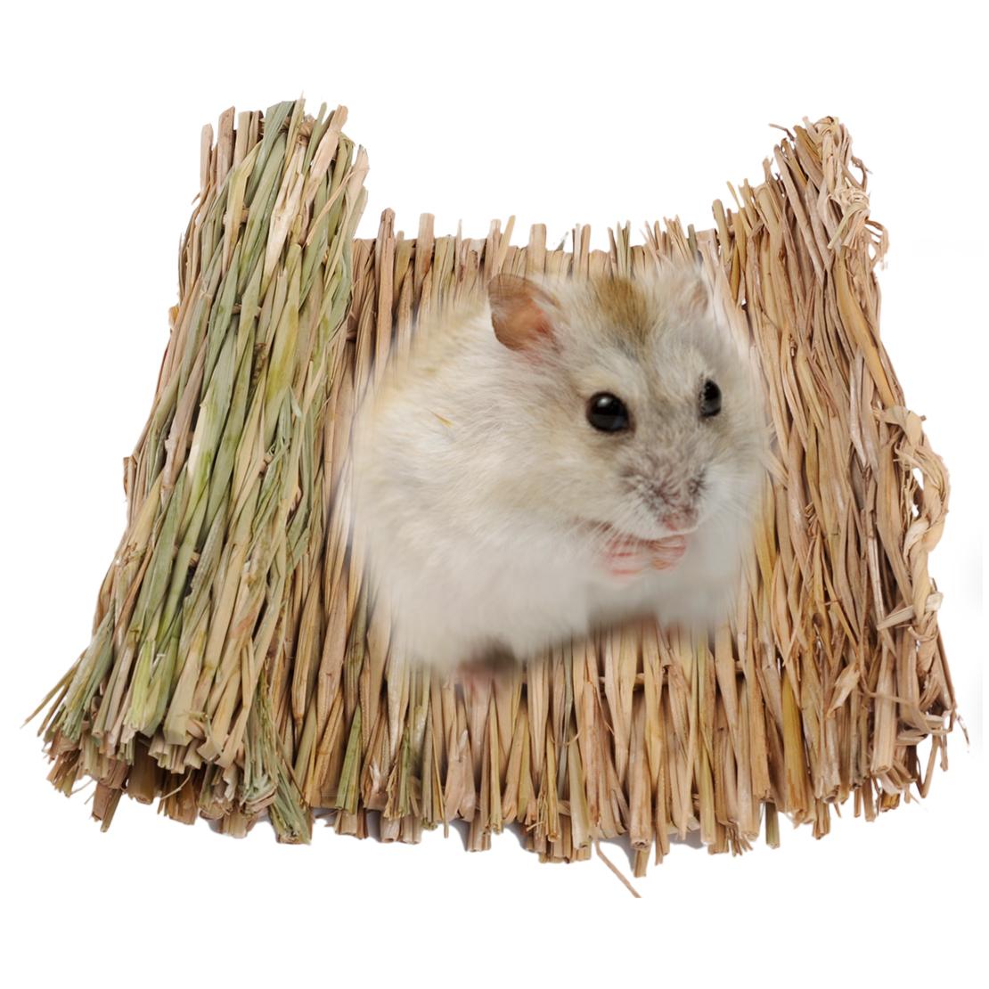 Small Pet Hamster Grass Mat Rabbit Chew Mats Pet Breakers Exercise Play Toy G