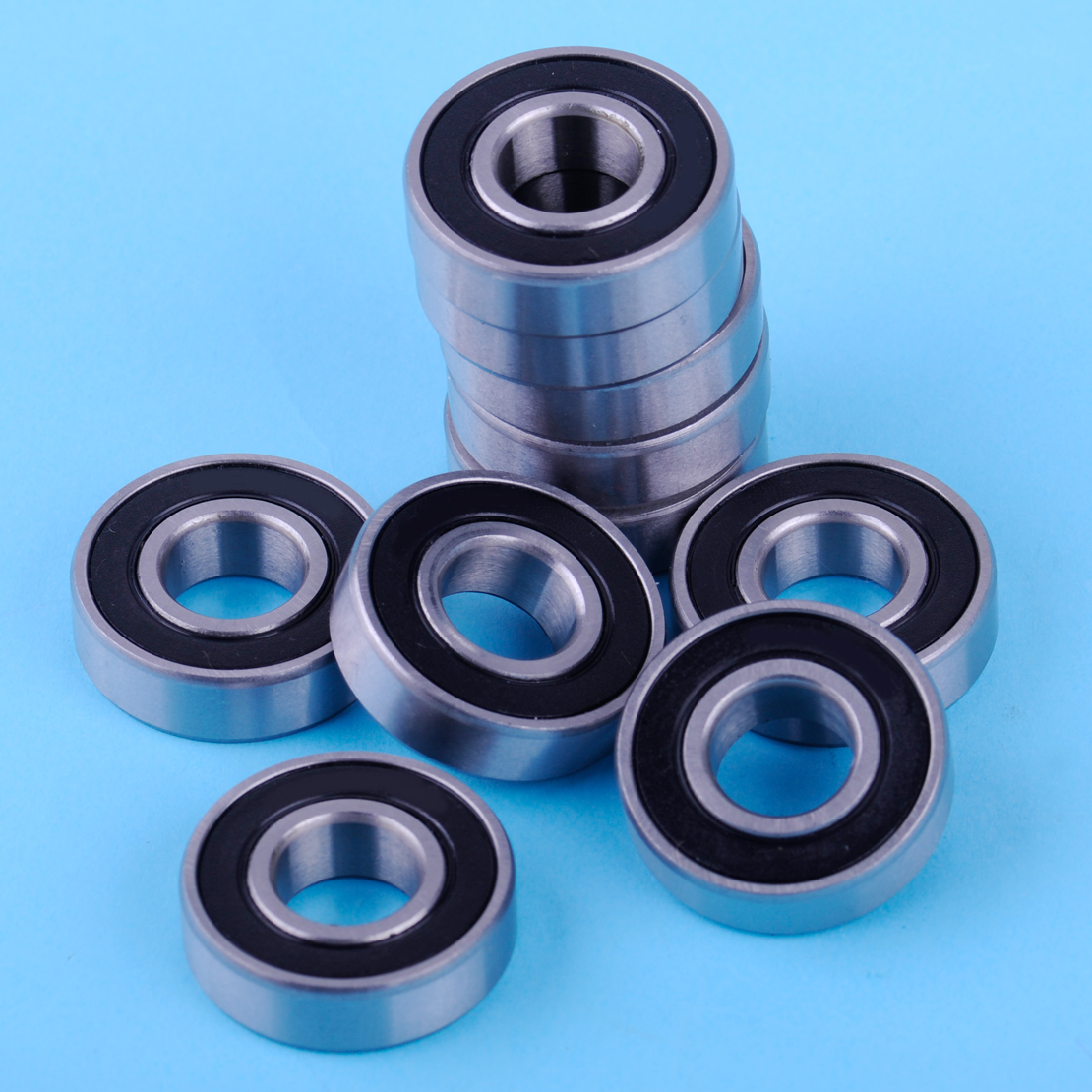10Pcs Sealed Deep Groove Ball Bearings Steel Ball Roller 6001-2Rs 12 X 28 X 8mm