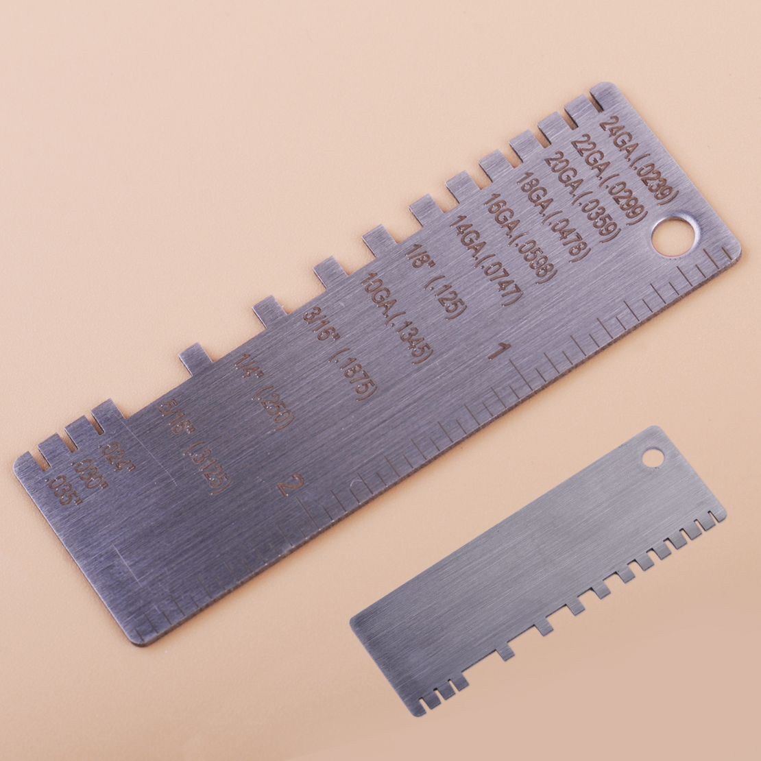 Metal Sheet Thickness Gauge 229895 Gage Welder Ruler Stainless Steel Wire