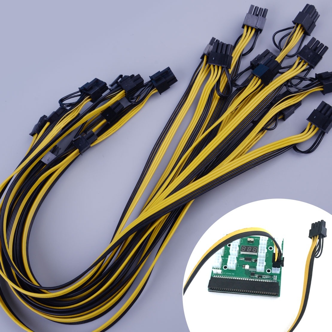 Power Supply Board Adapter Pin Cable Mining Power Supply 6+2 10PCs 6 Pin to 8
