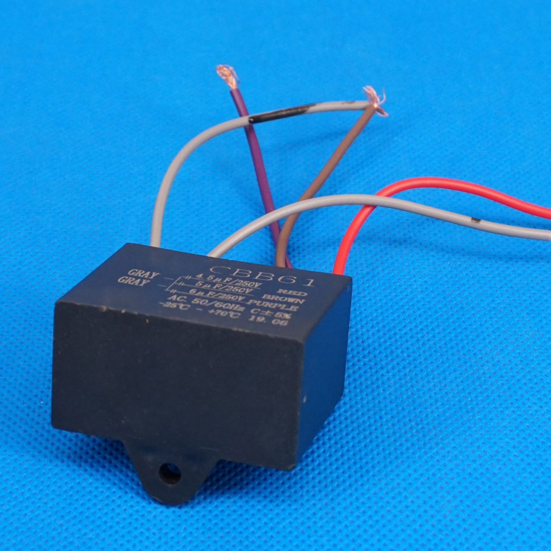 45uf 5uf 6uf 4 Wire Ac 250v Electric Fan Capacitor Replacement Type Control Wiring 6 Cbb61 Capacitors The Start And Stop Mechanisms Speeds On Many Different Types Of Ceiling Fans Motors Using These