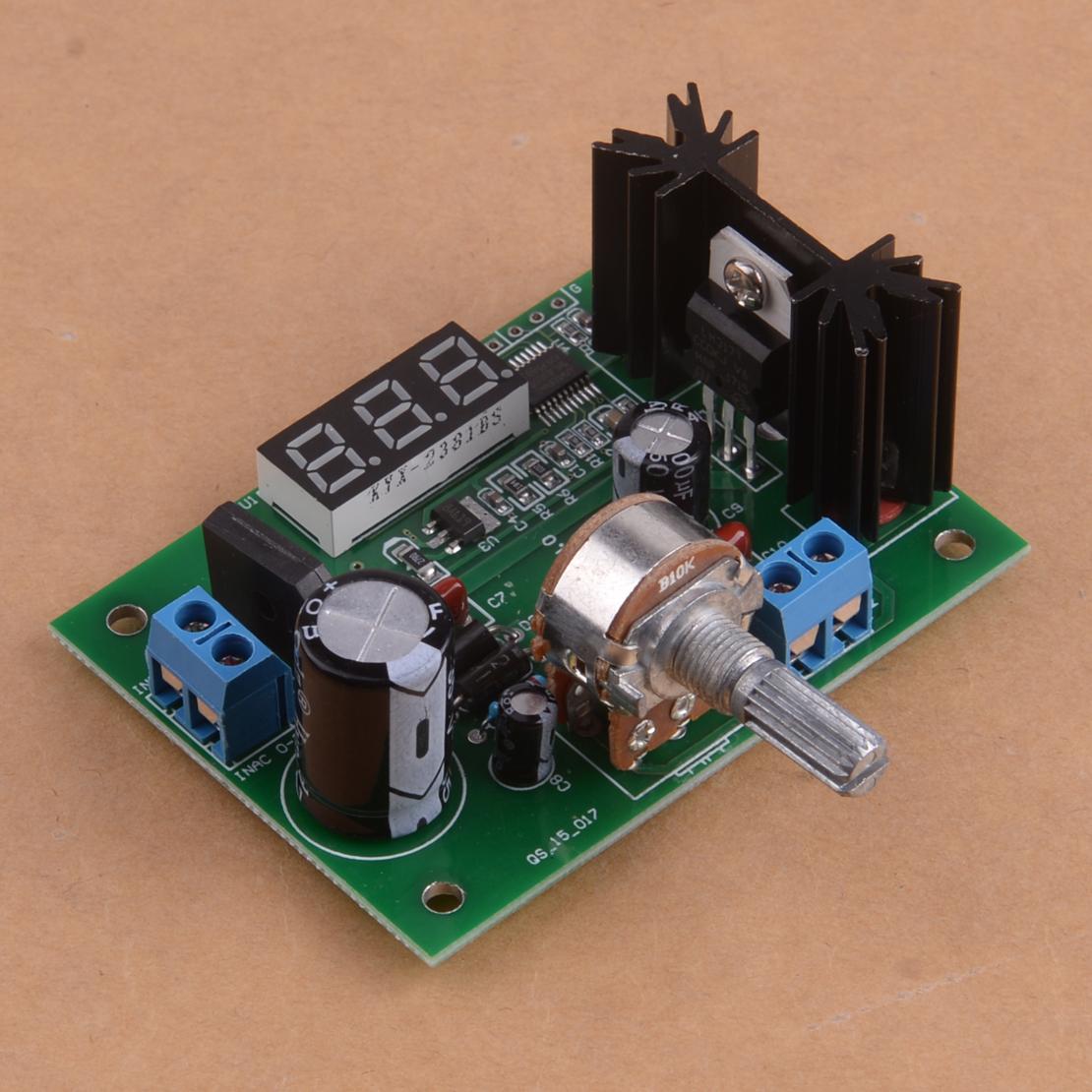 LM317 Adjustable Voltage Regulator Step down Power Supply Module LED Display