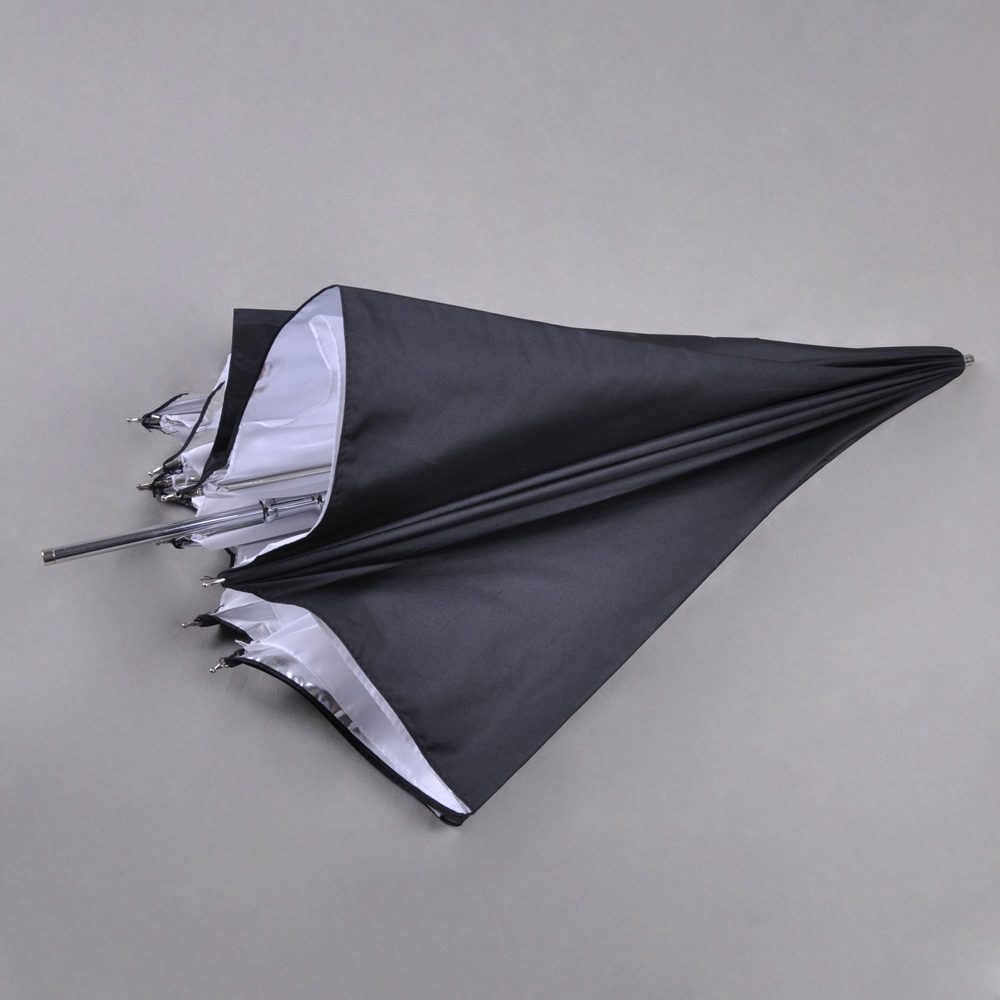 "Reflective Umbrella Softbox: New 43"" 110cm Black Silver Reflective Umbrella For Photo"